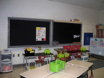 And at last, look at these great new bulletin boards!
