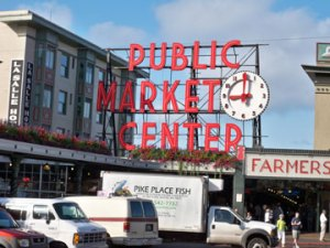 The famous Pike Place Market sign