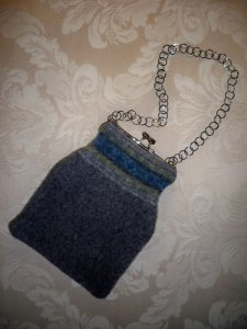 My new find: a felted purse made from an old sweater