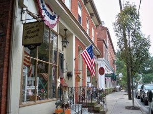 Downtown Lititz lined with charming shops