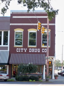 Downtown drug store in Dyersburg