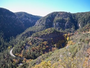 The winding mountain road we took from Flagstaff to Sedona